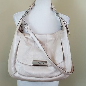 Coach Kristin Pearlescent leather convertible hobo